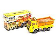 Машинка игрушечная «Грузовик» желтая, LX376