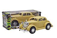 Машинка инерционная «Ретромобиль» бежевая, 6600A