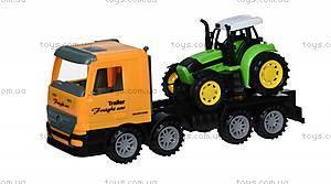 Машинка инерционная Super Combination «Тягач» желтый с трактором, 98-84Ut-2