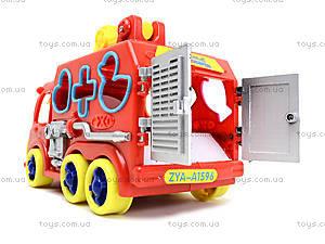 Игрушечная машинка с сортером «Пожарка», ZYA-A1596, купить