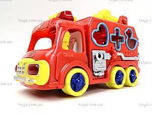 Игрушечная машинка с сортером «Пожарка», ZYA-A1596, цена