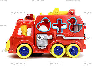 Игрушечная машинка с сортером «Пожарка», ZYA-A1596, игрушки