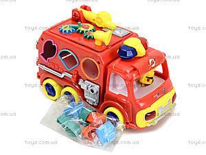 Игрушечная машинка с сортером «Пожарка», ZYA-A1596, детские игрушки