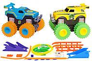 Машинки Trix Trux с трассой синяя и желтая, JLT-AS332BY, купить