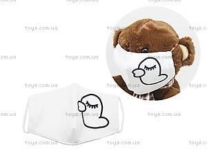 """Многоразовая 4-х слойная защитная маска """"Утка"""" размер 3, 7-14 лет (белая), mask2"""