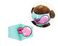 "Многоразовая 4-х слойная защитная маска ""Bubble Gum"" размер 3, 7-14 лет (бирюзовая), mask02"