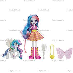Кукла-пони с подружкой-пони «Май Литл Пони. Девочки Эквестерии», A3996, купить