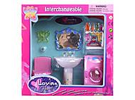 Мебель для ванной комнаты игрушечная, 2909, фото