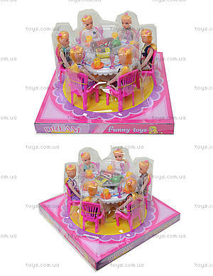 Игрушечная мебель «Столовая» с куклами, 501