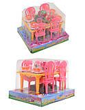 Набор игрушечной мебели «Столовая», 967, фото
