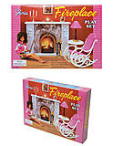 Кукольная мебель Gloria «Камин», 96006, магазин игрушек