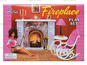 Кукольная мебель Gloria «Камин», 96006, цена