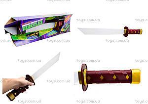 Игрушечный меч «Черепашки-ниндзя» со звуковыми эффектами, 09240