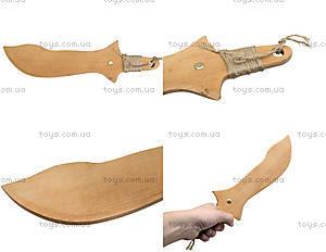 Меч деревянный короткий, 35 см, 238-08-06