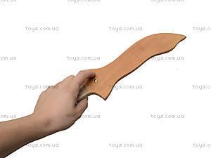 Деревянный меч 35 см, короткий, 238-08-06у, купить