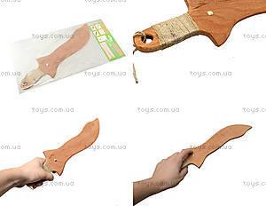 Деревянный меч 35 см, короткий, 238-08-06у