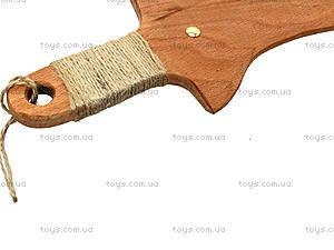 Деревянный меч 35 см, короткий, 238-08-06у, игрушки