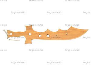 Деревянный меч «Крокодил», 40 см, 141-024у, фото