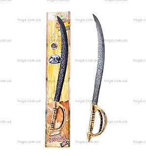 Игрушечный меч пирата с медальоном, JM5617D