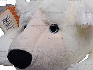 Медведь белый мягкий, К106ВР, купить