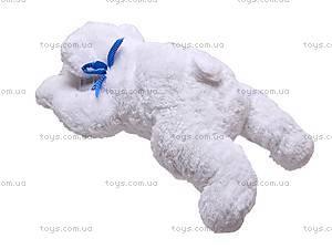 Медведь белый с бантиком, 4130, фото