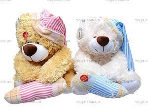 Медведь музыкальный, с подушкой, XJ61069