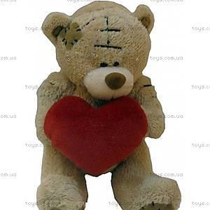Медвежонок в заплатках с большим сердцем, KR-6182