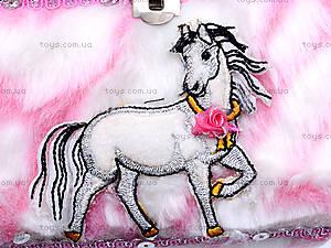 Меховая шкатулка с лошадью, H-097, фото