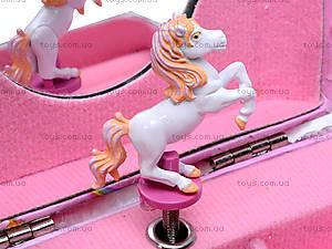 Меховая шкатулка с лошадью, H-097, игрушки