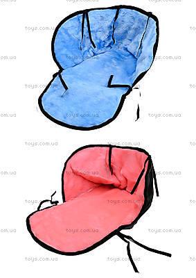 Меховой матрасик для санок «Цветной»,