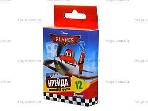 Мел цветной «Самолеты», 12 штук, 400117, фото