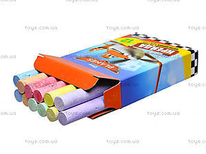 Мел цветной «Самолеты», 12 штук, 400117, игрушки