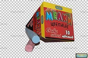 Мел цветной для рисования в коробке, КА-1410