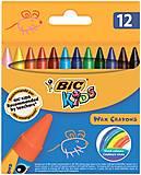 Мел цветной Kids Wax Crayons восковой круглый 12 шт. , bc927829