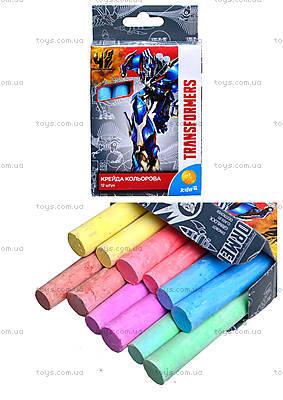 Мел цветной Transformers, 12 штук, TF15-075K