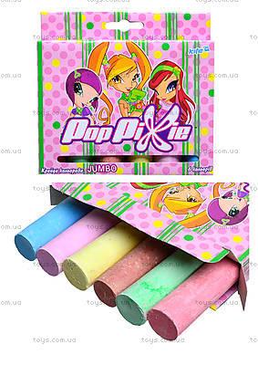 Мелки цветные Pop Pixie Jumbo, 6 цветов, PP13-073K