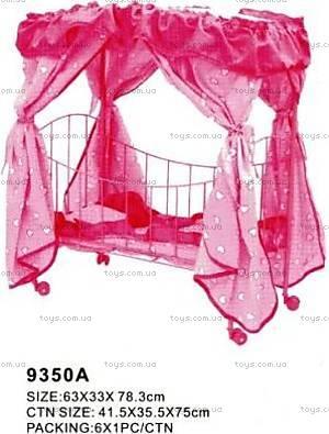Металлическая кроватка для куклы, 9350А