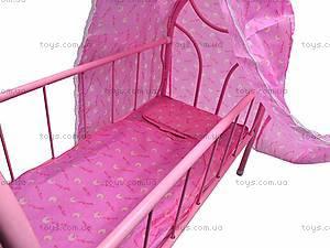 Металлическая кроватка для кукол, 881-12, купить