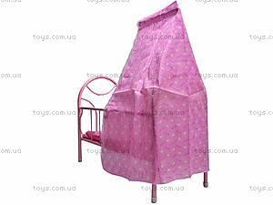 Металлическая кроватка для кукол, 881-12, фото