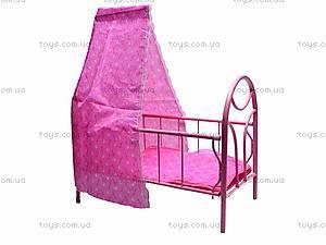 Металлическая кроватка для кукол, 881-12