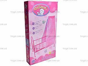 Металлическая кроватка для кукол, 881-12, отзывы