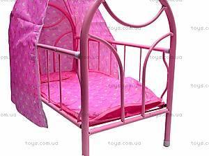 Металлическая кроватка для кукол, 881-12, цена