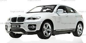 Металлическая машинка р/у BMW X6, цвет белый, MZ-25019Aw