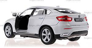 Металлическая машинка р/у BMW X6, цвет белый, MZ-25019Aw, купить