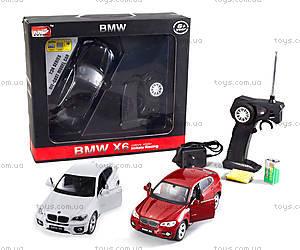 Металлическая машинка р/у BMW X6, цвет белый, MZ-25019Aw, фото