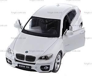 Металлическая машинка р/у BMW X6, цвет белый, MZ-25019Aw, отзывы