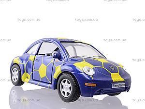 Металлическая модель Volkswagen Soccer Beetle, KT5028WR, игрушки