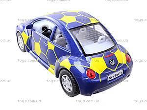 Металлическая модель Volkswagen Soccer Beetle, KT5028WR, детские игрушки
