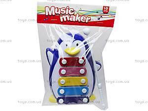Металлический ксилофон «Пингвин», 20112A/.B