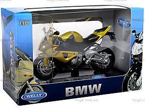 Металлический мотоцикл, масштаб 1:18, B19660PW/6, фото
